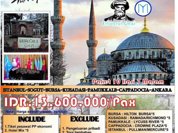 EXPLORE TURKEY 10 HARI 7 MALAM